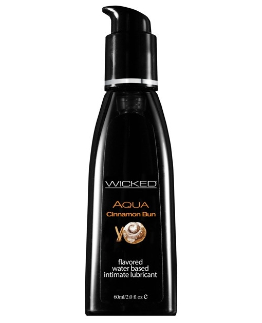 Wicked Sensual Care Collection Aqua Waterbased Lubricant - 2 oz Cinnamon Bun