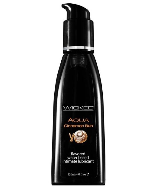 Wicked Sensual Care Collection Aqua Waterbased Lubricant - 4 oz Cinnamon Bun