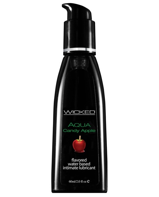 Wicked Sensual Care Collection Aqua Waterbased Lubricant - 2 oz Candy Apple