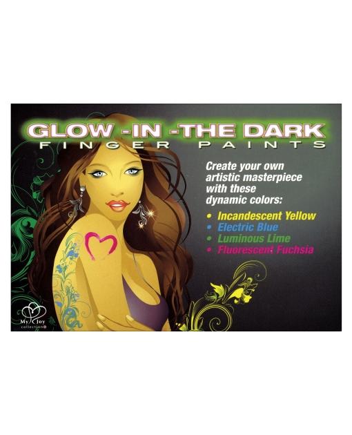 Body Art Glow in the Dark Finger Paints