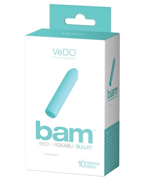 VeDO BAM Rechargeable Bullet - Tease Me Turquoise