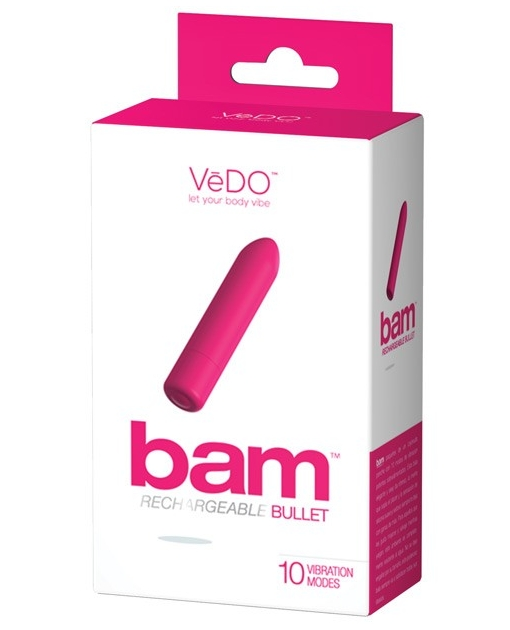 VeDO BAM Rechargeable Bullet - Foxy Pink