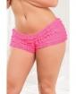 Ruffle Shorts w/Back Bow Detail Neon Pink XXL