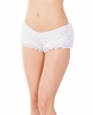 Ruffle Shorts w/Back Bow Detai White O/S