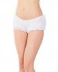 Ruffle Shorts w/Back Bow Detail White OS/XL