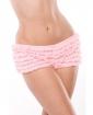 Ruffle Shorts w/Back Bow Detai Pink O/S