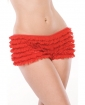 Ruffle Shorts w/Back Bow Detail Red OS/XL