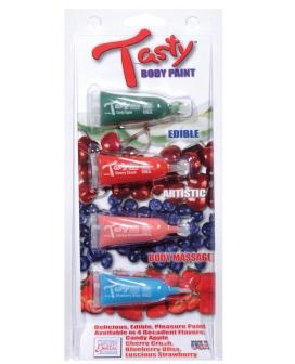 Tasty Body Paint - .34 oz Tube Asst. Flavors Pack of 4