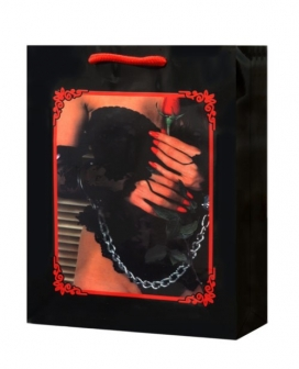 Lady Lace Lingerie w/Rose & Handcuffs Gift Bag