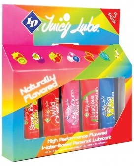 ID Juicy Water Based Lube - 12 g Blister Asst. Flavors Pack of 5