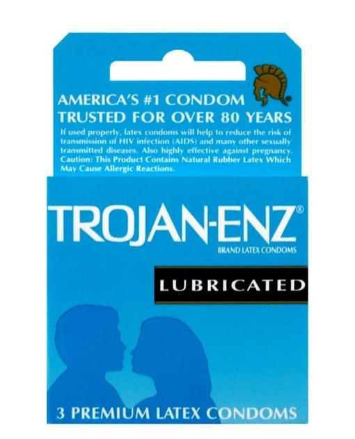 Trojan-Enz Lubricated Condoms - Box of 3