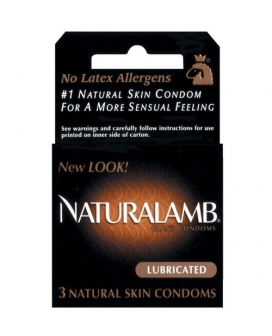 Trojan Naturalamb Condoms - Box of 3