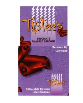 Tastees Condoms - Chocolate Box of 3