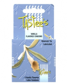Tastees Condoms - Vanilla Box of 3