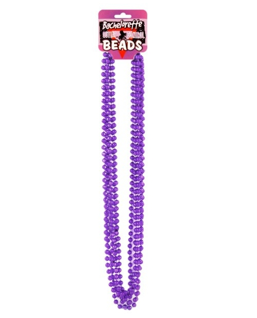 Bachelorette Outta Control Beads - Metallic Purple Pack of 6
