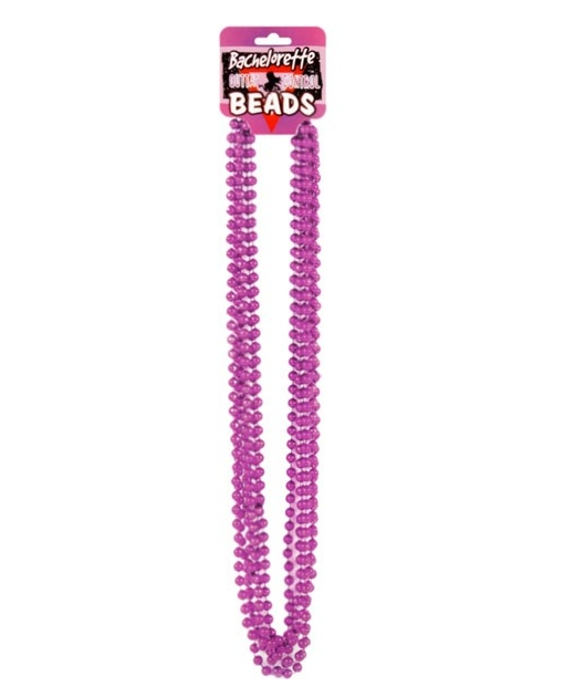 Bachelorette Outta Control Beads - Metallic Pink Pack of 6