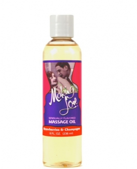 Making Love Massage Oil - 8 oz Strawberries & Champagne