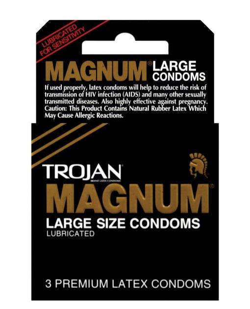 Trojan Magnum Condoms - Box of 3