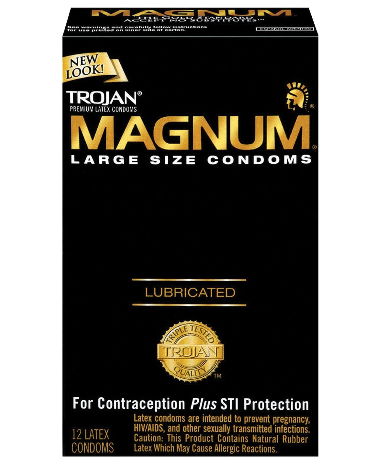 Trojan Magnum Condoms - Box of 12
