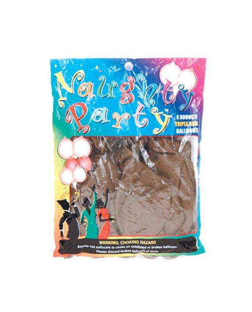 Naughty Party Boobie Balloons - Brown Pack of 6