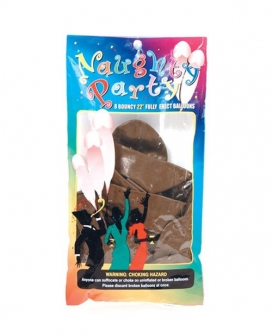 """22"""" Naughty Party Penis Balloons - Brown Pack of 8"""