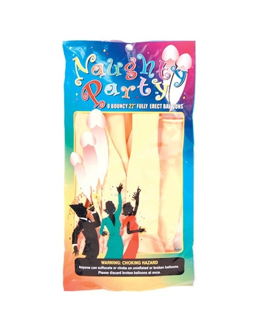"22"" Naughty Party Penis Balloons - Flesh Pack of 8"