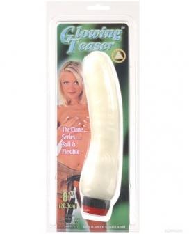 Nite Lite Glowing Teaser Vibrator - White