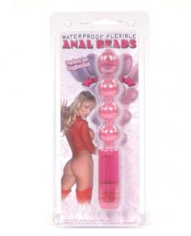 Flexible Anal Bead Waterproof Vibe - Pink