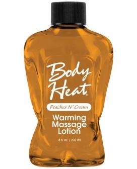 Body Heat Lotion - 8 oz Peach & Cream
