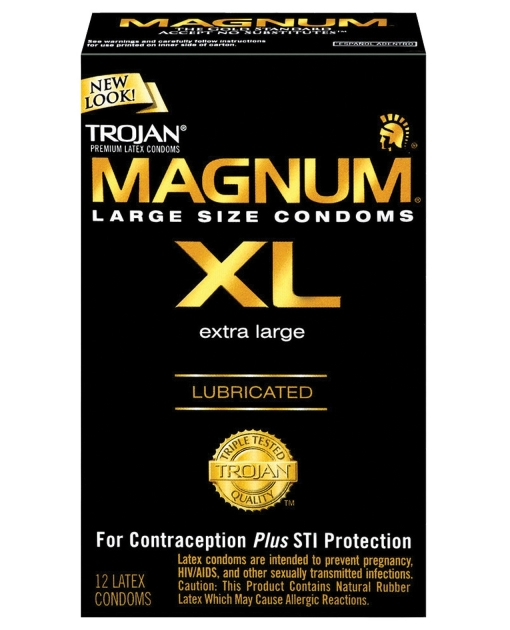 Trojan Magnum XL Lubricated Condom - Box of 12