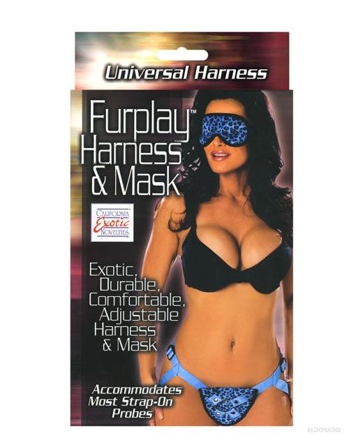 Furplay Harness & Mask - Blue Leopard