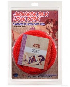 Japanese Silk Love Rope - 16' Red