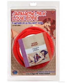 Japanese Silk Love Rope - 10' Red