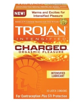 Trojan Intensified Charged Condoms - Box of 10