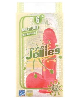 "Crystal Jellies 6"" Ballsy Cock - Pink"