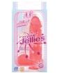 "Crystal Jellies 8"" Ballsy Cock - Pink"