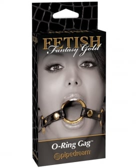 Fetish Fantasy Gold O Ring Gag - Black