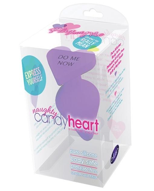 Blush Naughty Candy Heart Do Me Now Plug - Purple