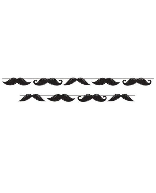 Mustache Madness Circle Ribbon Banner