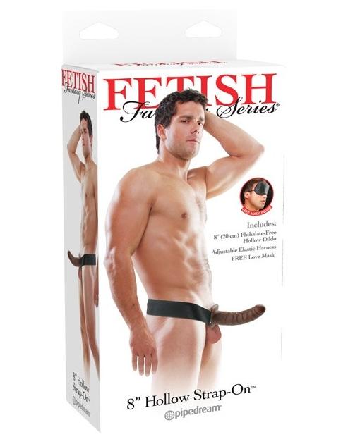 "Fetish Fantasy Series 8"" Hollow Strap On - Brown"