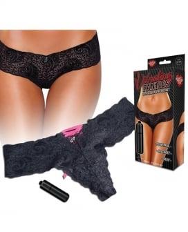 Hustler Vibrating Panties w/Bullet Black S/M