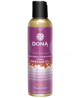 Dona Scented Massage Oil Sassy - 4 oz Tropical Tease