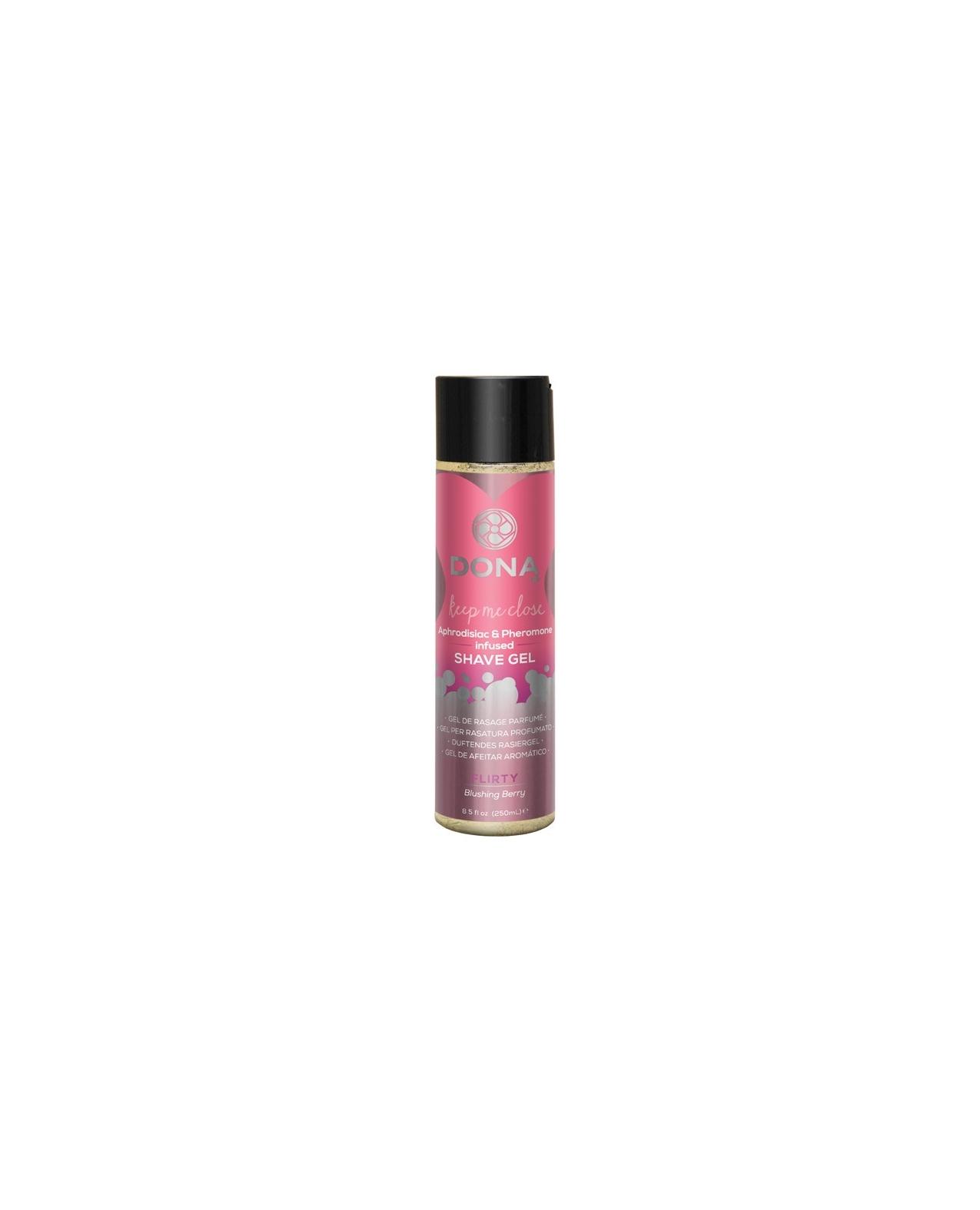 Dona Shave Gel Flirty - 8 oz Blushing Berry