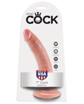 """King Cock 7"""" Cock - Flesh"""
