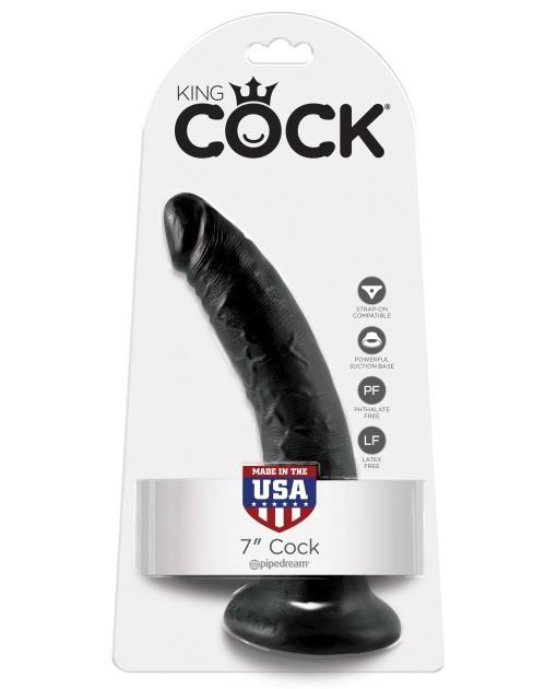 "King Cock 7"" Cock - Black"