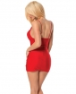 Strappy Jeweled Dress Red O/S