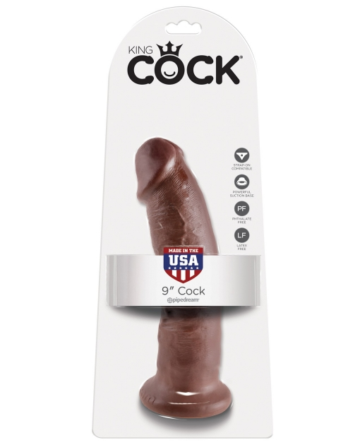 "King Cock 9"" Cock - Brown"
