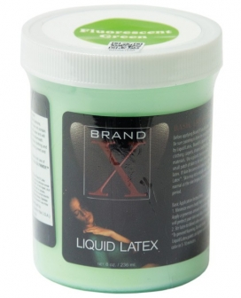 Brand X Liquid Latex - 8 oz Fluorescent Green