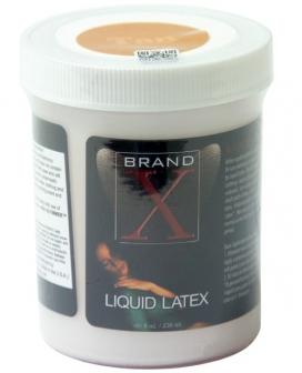 Brand X Liquid Latex - 8 oz Tan