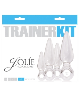 NS Novelties Jolie Trainer Kit Anal Plugs - Clear